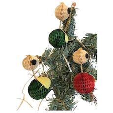 Unusual Vintage Christmas Ornaments, Group of 3 Chicken Angels, Japan