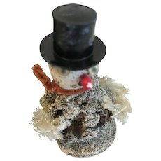 Vintage Christmas Decoration, Pine Cone Snowman, Japan