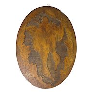 Wonderfully Done Pyrography (Flemish Art) Wall Plaque, Ducks