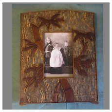 Lovely Antique Wood Table-Top  Photograph Frame, Unusual