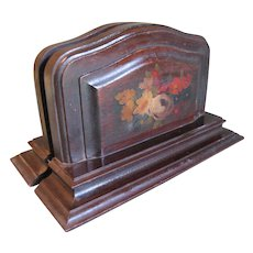 Fantastic Find.  Lovely Vintage Painted Wood Bookends