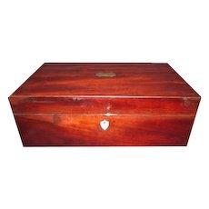 Lovely Large Antique Mahogany Slope Desk Box