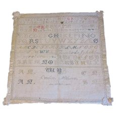 Lovely Sampler, Unframed, 1847, EMILIE MIELSON, Denmark