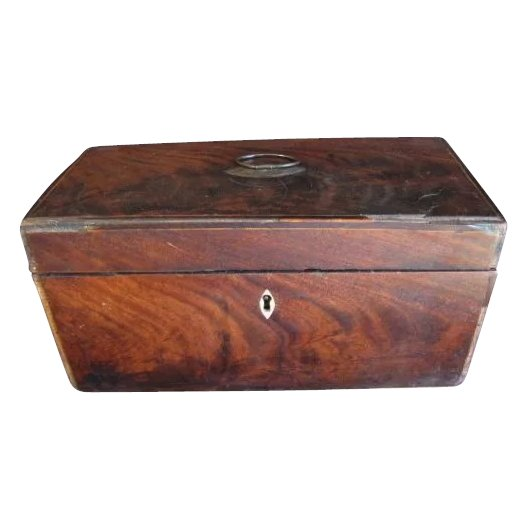 very early mahogany veneer box originally a tea caddy judy 39 s lovelies ruby lane. Black Bedroom Furniture Sets. Home Design Ideas
