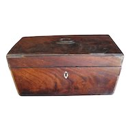 Very Early Mahogany Veneer Box, Originally A Tea Caddy