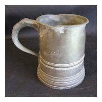 Early 19th Century Pint Pewter Measure, James Yates, Birmingham