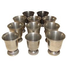 Small Vintage French Pewter Aperitif Cup, ETAIN (11 available)