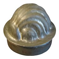 Small Individual Tin Pudding/Jelly Mold, SHELL, England