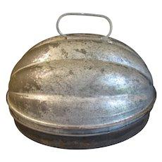 Large Vintage Melon Shaped Tin Pudding/Jelly Mold