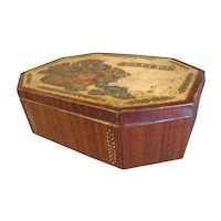 Vintage British Biscuit Tin, Sewing WORKBOX