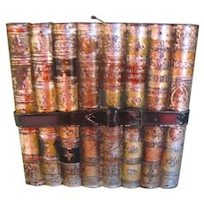 1901 Huntley & Palmers Biscuit Tin, LITERATURE, Stack of Books