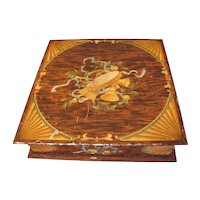 Rare 1906 Huntley & Palmers Biscuit Tin MARQUETRY