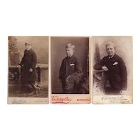 Group of Three Carte de Visite Photographs, Young Boys