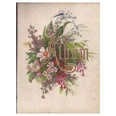 Lovely Title Page from Victorian Album, Flowers