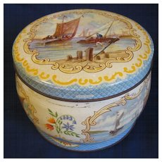 Vintage Huntley & Palmers Barrel Shaped Biscuit Tin, EBB TIDE