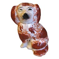 19th Century Staffordshire Single Dog (Spaniel) Red & White