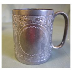 Victorian Silver Plated Baby Cup, Engraved