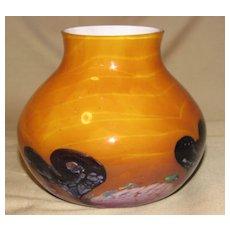 Lovely Butterscotch Art Glass Vase, CAITHNESS GLASS
