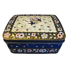 Vintage Candy Tin, Horner, Blue Chintz