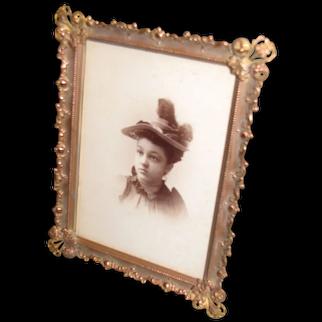 Lovely Rectangular Brass Photograph Frame, Table-Top