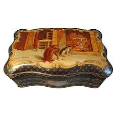 Circa 1910 French Sweet Tin, Marrons Glaces Cholvy Privas