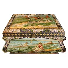 Large Circa 1910 Dutch Biscuit Casket Tin, SPORTS