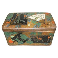 Lovely Dutch Biscuit Tin, Oriental Design