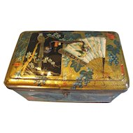 Large Gorgeous Dutch Biscuit Tin, Oriental Design, Bekkers