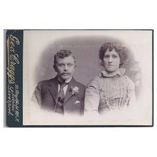 Cabinet Photograph Card of a Young Couple