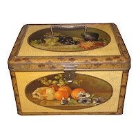 Large Early 1900's Bekkers Tin Box, Fruit Still Life Decoration