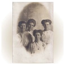 Circa 1900 Photograph of Four Young Women