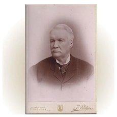 Cabinet Photograph Card, Distinguished Older Gentleman