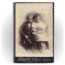 Cabinet Photograph Card, Two Young Children