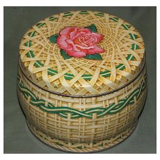 C. 1962 British Biscuit Tin, Huntley & Palmers, ROSE BASKET