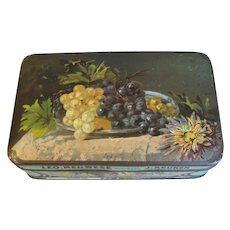 Small Vintage European Chocolate Candy Tin