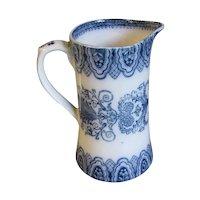 Lovely Flow Blue Milk Pitcher BURMESE Cetem Ware, ca 1908