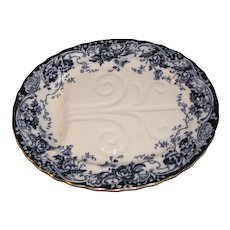 Huge Flow Blue Turkey (Meat) Platter, CHATSWORTH