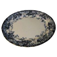 Huge Flow Blue Platter, CHATSWORTH, Keeling