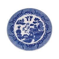 Early JAPAN Blue Willow Plate, 9 1/2""
