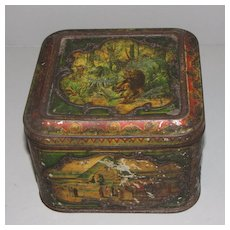 Circa 1899 British Biscuit Tin AFRICAN Huntley & Palmers