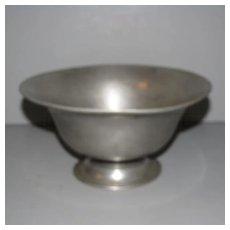 Vintage French Pewter Pedestal Bowl