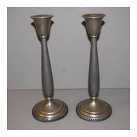 Vintage Silverplate Candlesticks, Pair, N.S. Silverplate