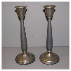 Vintage Silverplate Candlesticks, Pair, N.S. Silverplate
