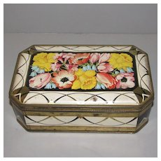 Vintage British Biscuit Tin GARLAND Peek Frean C. 1950