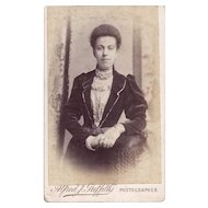 Carte-de-Visite Photograph, Woman in Victorian Dress