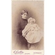 Carte-de-Visite Photograph, Woman and Baby
