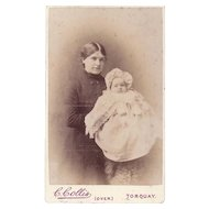 Carte-de-Visite Photograph, Woman and Baby