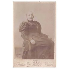 Cabinet Photograph of a Woman in Victorian Dress