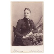 Cabinet Photograph Young Woman, Victorian Dress