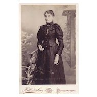 Cabinet Photograph of Woman in Victorian Dress
